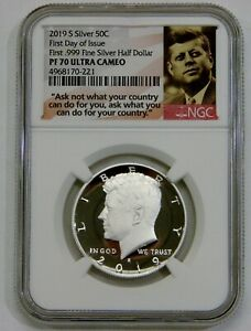 2019 S - Proof Silver Kennedy Half Dollar - NGC PF 70 Ultra Cameo