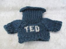 "Boyds Bear Blue Wool Knitted ""Ted"" Turtleneck Sweater - NOS"