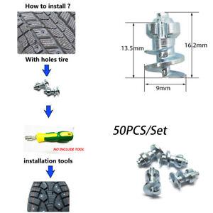 50PCS Winter Car Tire Studs Screw Snow Spikes Wheel Tyres Snow Chains Studs Kit