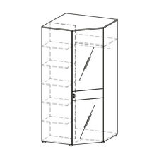 Classic Closets Wardrobe Corner Shelves Wardrobe Wood Cabinet LU-1DN