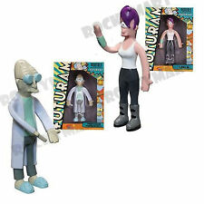Futurama TV Show LEELA & FARNSWORTH Characters Bendable Figure Toy Set RM1834