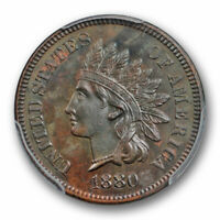 1880 1C Indian Head Cent PCGS PR 62 BN Proof Low Mintage Coin