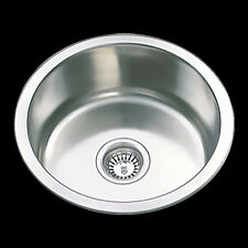 Undermount Topmopunt Drop In Kitchen Sink Single Round Bowl 304 Staineless Steel