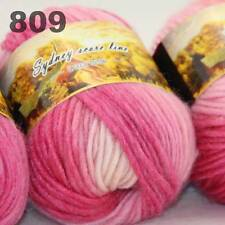 LOT of 3x50gr Skeins NEW Chunky Hand-woven Colors Knitting Scores wool yarn 809