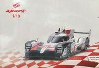 SPARK 18LM19 TOYOTA TS050 Hybrid Winner Le Mans 2019 Buemi Nakajima Alonso 1:18