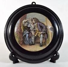 More details for antique victorian prattware uncle toby pot lid c1870s framed