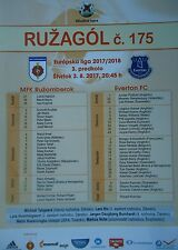 off. Programm UEFA EL 2017/18 MFK Ruzomberok - Everton FC