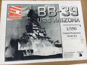 BB-39 USS ARIZONA 1/350 Ltd.500 Pieces RESIN MODEL KiT - Tom's Modelworks 1992