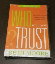 Who Will You Trust? (CD, 5-Disc Set) Beth Moore Audio Series Christoan message