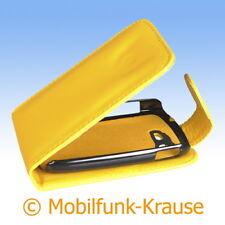 Flip Case Etui Handytasche Tasche Hülle f. Samsung GT-S5280 / S5280 (Gelb)