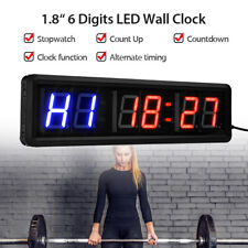 "1.8"" 6-Digits LED Interval Timer Sport Clock Gym Timer Big Stopwatch with Remote"