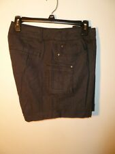 Ruff Hewn Ladies Cargo Shorts Washed Black Size 14P NWT MSRP $59.00