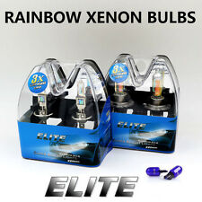 H1 H7 T10 55w RAINBOW XENON ELITE UPGRADE Head Light Bulbs Set Dip Main Beam X