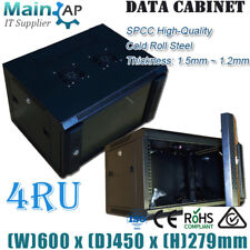 NETWORK 4U 4RU 19IN 450mm DEEP WALL MOUNT SERVER DATA RACK