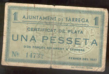 Ayuntamiento de TARREGA 1 Peseta  @ Urgell - Lleida  @
