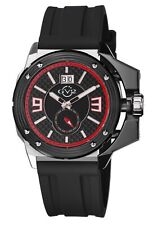 GV2 by Gevril Men's 9400 Grande Luminous Black Dial Black Silicone Date Watch
