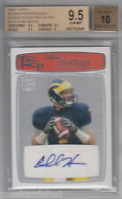 2008 Topps Progression rc CHAD HENNE rookie AUTOGRAPH red Silver /20 bgs 9.5 10