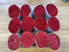 Latch Hook Rug Yarn Lot of 12 Acrylic Pre Cut Pinkish Red Coral Color 720 Piece