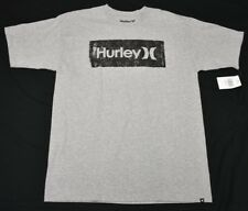Hurley T-Shirt Men's Size L Transfer Elevated Graphic Print Crew Tee Grey N847