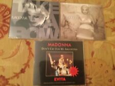 Madonna CD Singles x 3 ; Secret, Take a Bow, Argentina ( Dance Mixes )  VG Cond