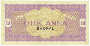 India Prisoner-of-War POW Camp of World War 2 : Bhopal Camp 1 Anna - Rare