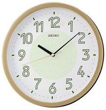 New Seiko Lumibrite Silent Silenciosa Sweep Reloj De Pared Dormitorio Oficina Oro Regalo Glow