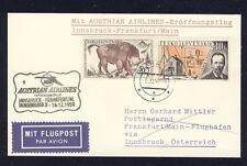 43473) AUA FF Innsbruck - Frankfurt 15.12.59, Karte ab Prag CSSR, R!