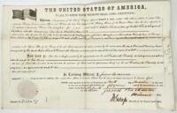 Land Grant 1859 Stevens Point WI President Buchanan War of 1812 New York Militia
