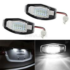 Pair White LED License Plate Lights Direct Fit For Acura/Honda TL TSX RDX Civic
