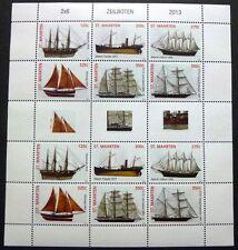 ST. MAARTEN 2013 Schiffe Sailing Ships Segelschiffe Navi Bateaux Kleinbogen **