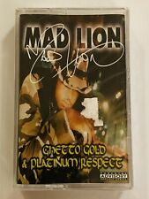 MAD LION Ghetto Gold & Platinum Respect 1997 CASSETTE New SEALED Super Cat Buju