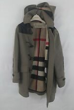 Authentic Burberry Brit wool blend Duffel Coat Horn Toggle Size Small - Rare!