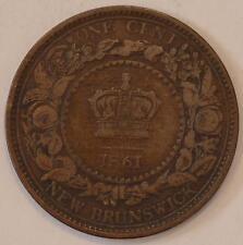 1861 VF-XF New Brunswick Large Cent #2