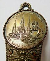 """French Quarter New Orleans St Louis Cathedral Souvenir Metal Shoehorn 7 1/2"""""""