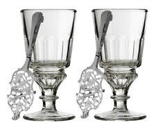 2 La Rochere Pontarlier Absinthe Glasses & 2 Absinthe Spoons Set