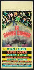 LA BOMBA COMICA Ca c'est du cinema SENNETT, CHARLOT, RARA LOCANDINA 1a, AFFICHE