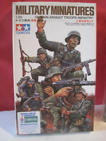 TAMIYA MAQUETTE MILITARY MINIATURES GERMAN ASSAULT TROOPS INFANTRY 1/35