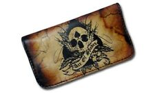 Tobacco Case Pouch Synthetic Leather Wallet Bag Rolling Smoke Ace of Spades Skul