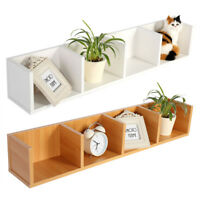 Wall Mounted Shelf Storage Rack Home Organizer DVD CD Book Case Floating US Ship