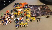 Huge Nerf Gun Bundle with whistling bullets and barrier