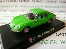 AP37 Voiture 1/43 IXO AUTO PLUS : CG SIMCA 1300 1974