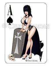 Elvira Grave Digger playing card decal busty pin-up sticker Guitar Art!