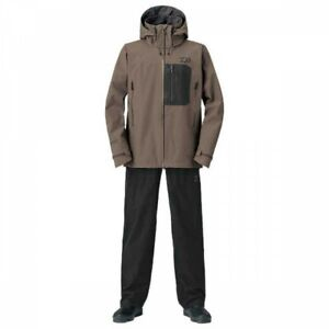 DAIWA DR-1908 Fishing GORE-TEX Product Pack Light Rain Suit Wood Brown Japan EMS