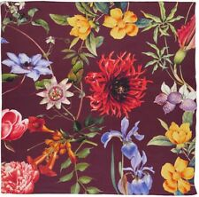 "NWT Echo Flora Botanica Silk Square Huge Scarf 50""x 50"" Garnet/Multi MSRP: $125"