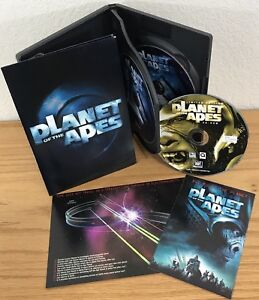 PLANET OF THE APES (DVD, 2001) 3-Discs w/INSERTS/BOOKLET Region 1 FOIL EMBOSSED!