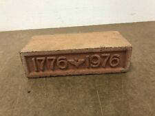 Vintage 1976 Brick bicentennial paperweight architectural salvage 1776 clay fire