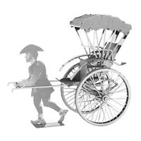 Fascinations Metal Earth JAPANESE RICKSHAW 3D Laser Cut Steel Model Kit (MMS120)