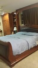 Solid wood California King Bed with mattress and pillows. Handmade!