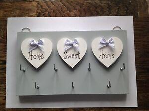 Key Holder,X-Large, Home Sweet Home, Grey