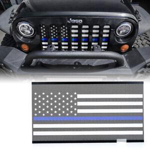 Steel Grille Mesh Insert American Flag Blue for 2007-2018 Jeep Wrangler JK JKU